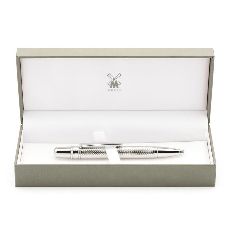 Подарочная ручка MUEHLE, шариковая, хром