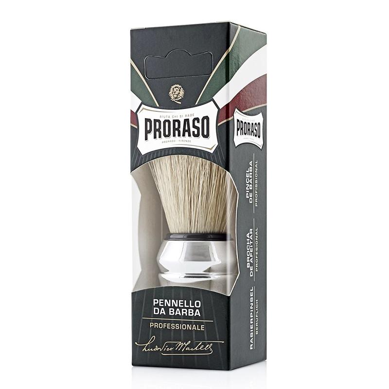 Помазок Proraso Professional, щетина кабана, серебристая ручка