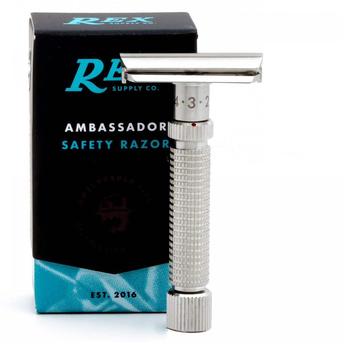 Т-образная бритва REX Ambassador, нержавеющая сталь